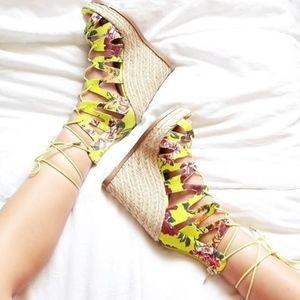 Steve Madden Theea wedge Espadrille sandal shoe